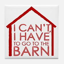 To The Barn Tile Coaster