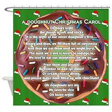 A Doughnut Christmas Carol Shower Curtain