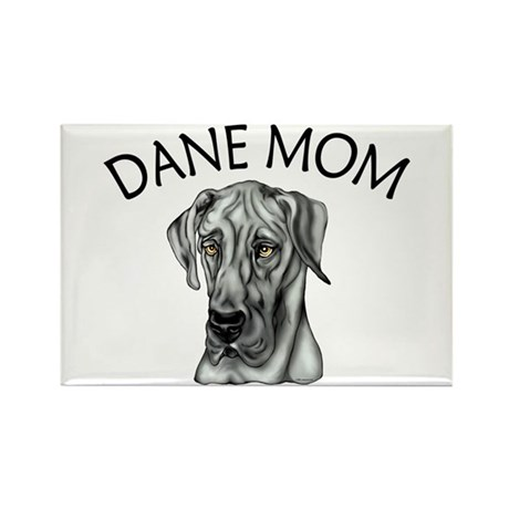 Black UC Dane Mom Rectangle Magnet