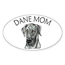Black UC Dane Mom Oval Decal