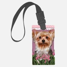 Mothers_Day_Pink_Tulips_Yorkshir Luggage Tag
