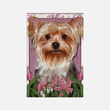 Mothers_Day_Pink_Tulips_Yorkshire Rectangle Magnet