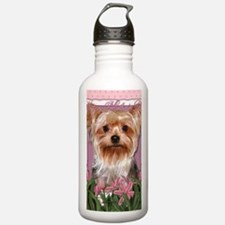 Mothers_Day_Pink_Tulip Sports Water Bottle