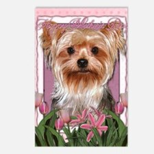 Mothers_Day_Pink_Tulips_Y Postcards (Package of 8)