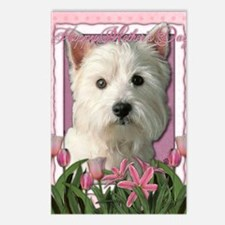 Mothers_Day_Pink_Tulips_W Postcards (Package of 8)