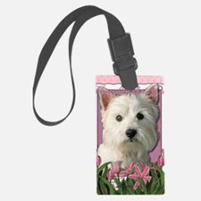 Mothers_Day_Pink_Tulips_Westie Luggage Tag