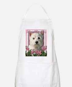 Mothers_Day_Pink_Tulips_Westie Apron