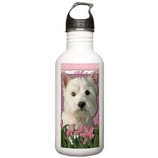 Mothers_Day_Pink_Tulip Water Bottle