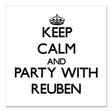 Keep Calm and Party with Reuben Square Car Magnet
