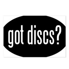 got-discs-oval-black Postcards (Package of 8)