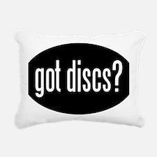 got-discs-oval-black Rectangular Canvas Pillow
