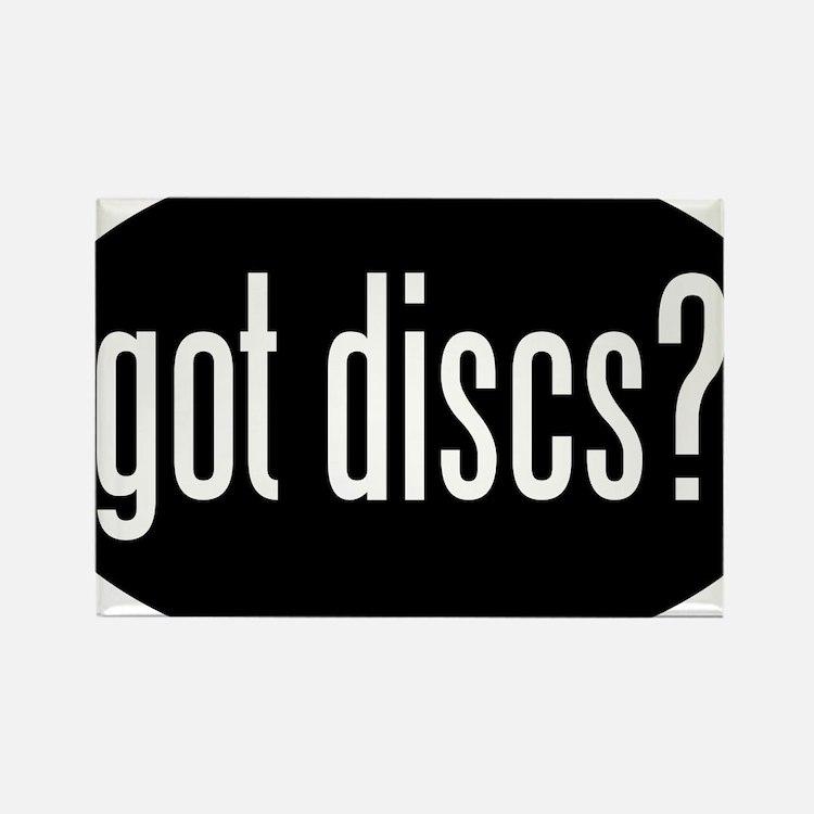 got-discs-oval-black Rectangle Magnet