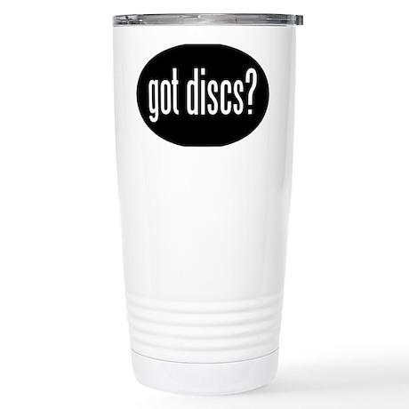 got-discs-oval-black Stainless Steel Travel Mug