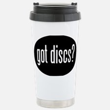 got-discs-oval-black Stainless Steel Travel Mug