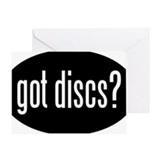got-discs-oval-black Greeting Card