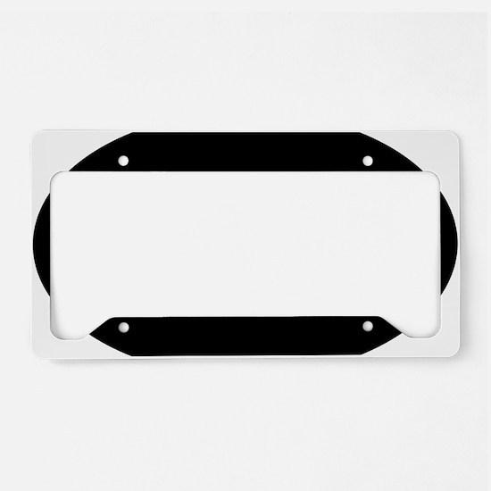 got-discs-oval-black License Plate Holder