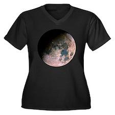 blktmoon Women's Plus Size Dark V-Neck T-Shirt