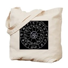 circle of fifths inverted Tote Bag