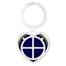 35th Infantry Division Heart Keychain
