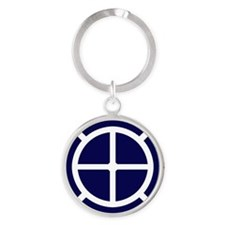35th Infantry Division Round Keychain
