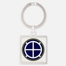 35th Infantry Division Square Keychain
