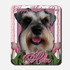 Mothers_Day_Pink_Tulips_Schnauzer_Mom Mousepad