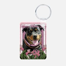 Mothers_Day_Pink_Tulips_Ro Keychains