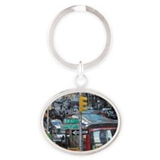New-York-Times-Square Oval Keychain
