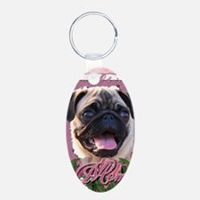 Mothers_Day_Pink_Tulips_Pug Keychains