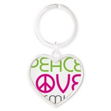 flowerjasmine-01 Heart Keychain