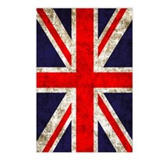 UK Flag Vertical Postcards (Package of 8)