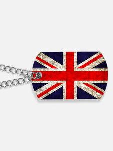 UK Flag Dog Tags