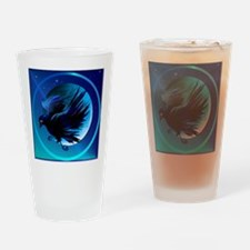Raven and Moon-Circ... Drinking Glass