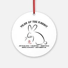 rabbit36light Round Ornament