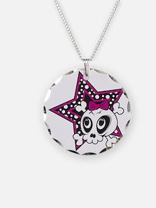 Girly Emo Skull Necklace