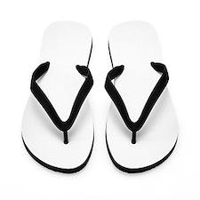 helvetica_k_white Flip Flops