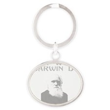 what-would-darwindodark Oval Keychain