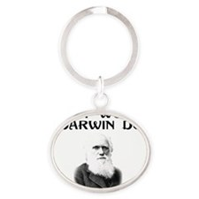 what-would-darwindo Oval Keychain