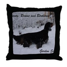 SpencerBeautyBrainsBirdsense Throw Pillow
