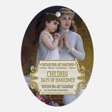 1 A VINTAGE CHILDREN- MUNIER Oval Ornament