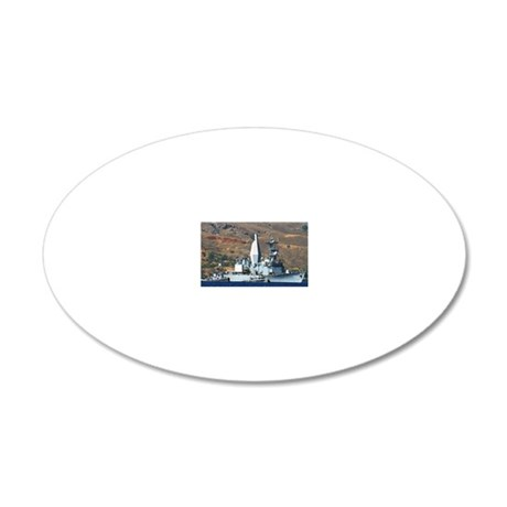 awradford note cards 20x12 Oval Wall Decal