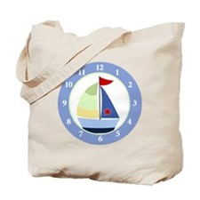 Sailboat Wall Clock Tote Bag