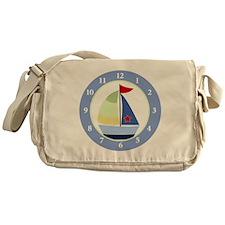 Sailboat Wall Clock Messenger Bag