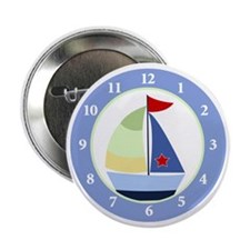 "Sailboat Wall Clock 2.25"" Button"
