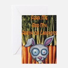 Army of carrots Greeting Card