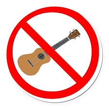 ukuele sucks anti-ukulele Round Car Magnet