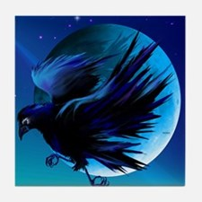 Calender Raven and Moon Tile Coaster