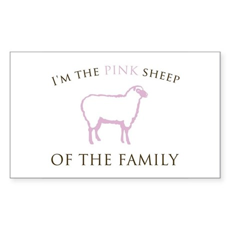 I'm The Pink Sheep of the Fam Sticker (Rectangular