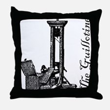 The Guillotine Throw Pillow