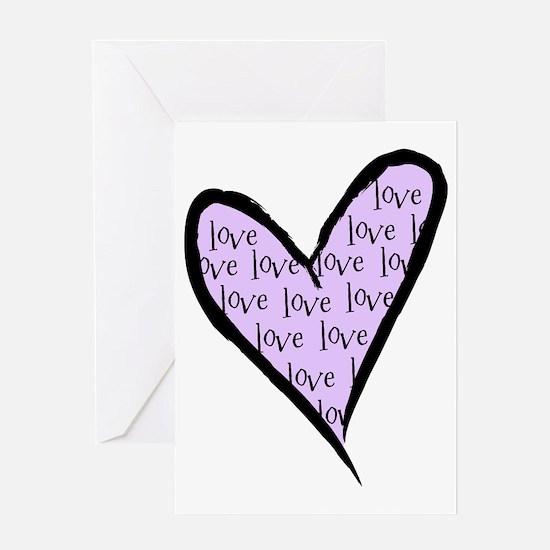 love_heart_purpleB-01 Greeting Card
